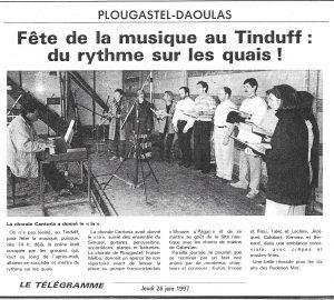 La Choeur brestois Cantoria au Tinduff pour la Fête de la Musique
